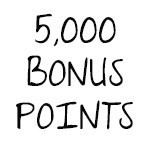 5,000 Bonus Points