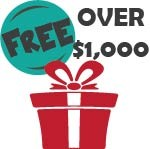 Free Gifts for Orders Over $1,000