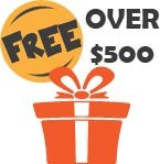 Free Gifts for Orders Over $500