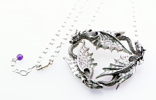 Sterling Trio of Dragons