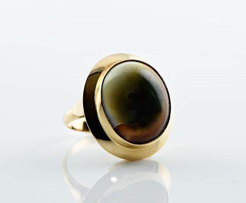 14k Shark Eye Gold Ring