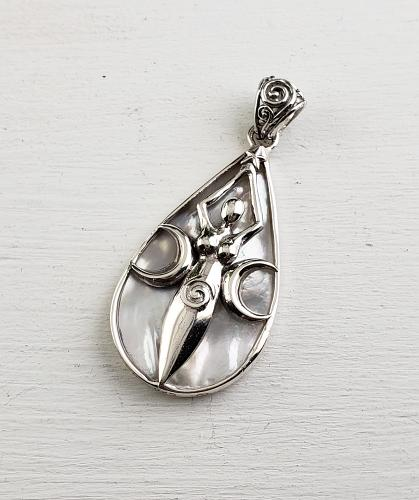 Sterling Mother of Pearl Pendant
