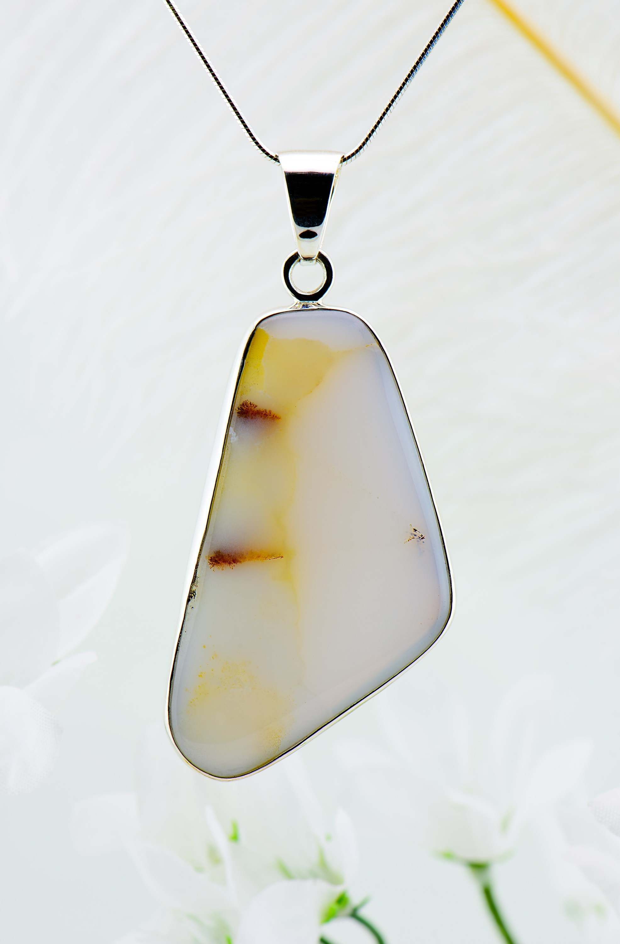 jewelry realreal enlarged the necklace pendant products necklaces chalcedony