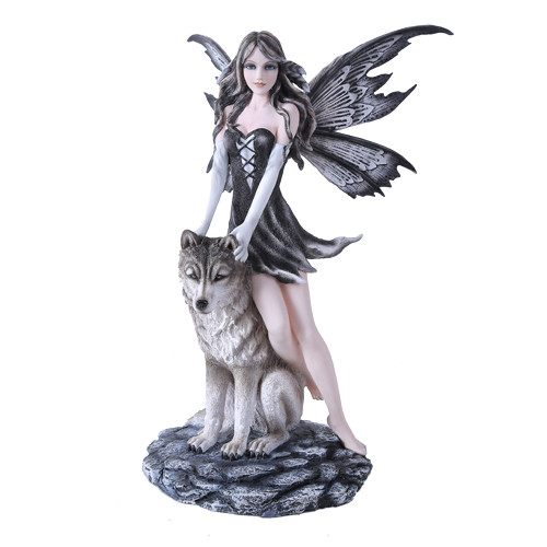 Gothic Fairy with Wolf