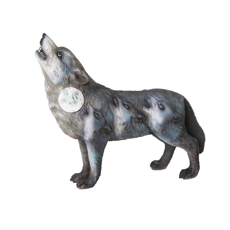 Wolf Spirit Guide Totem Animal Statue - Howling Wolves