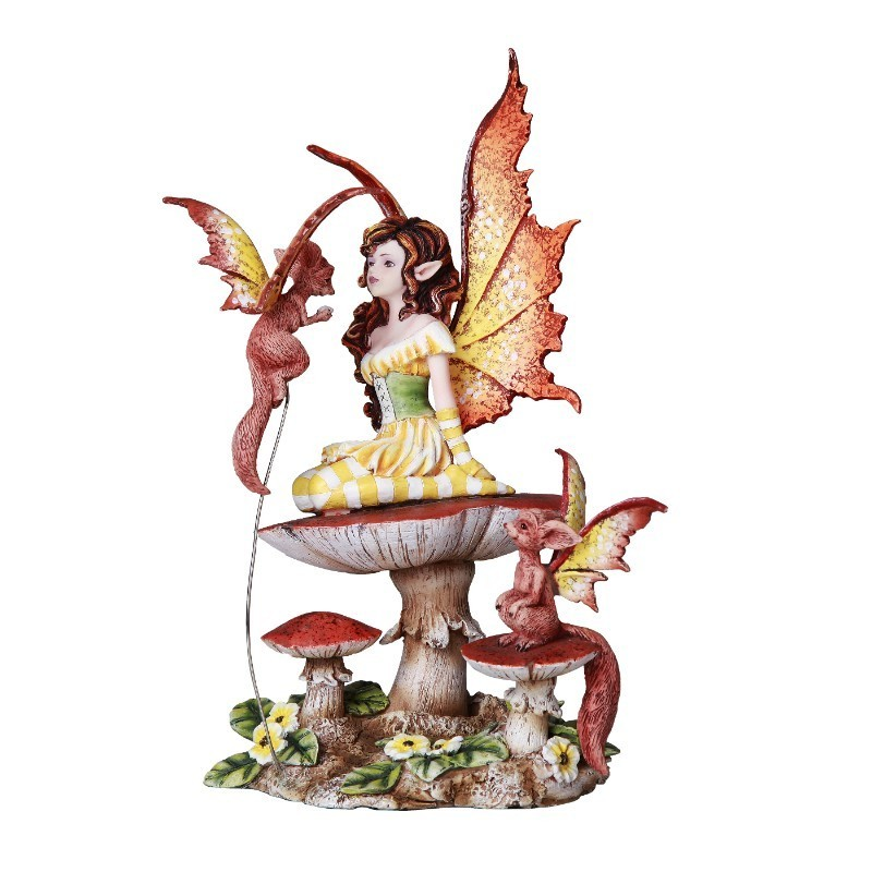 Fluttering Friends Fairy and Creature Statue