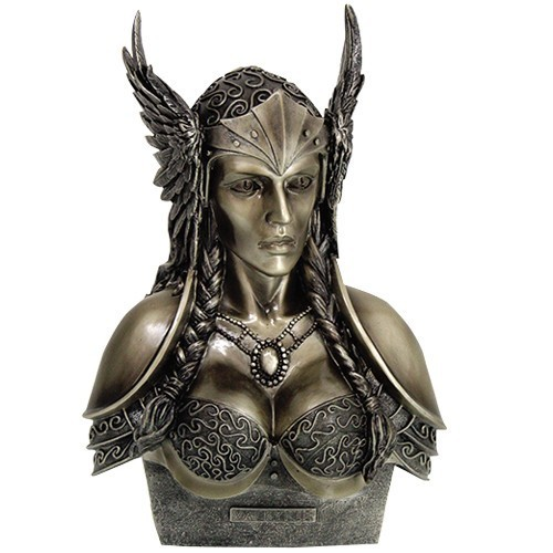 Valkyrie Bust In Cold Cast Bronze