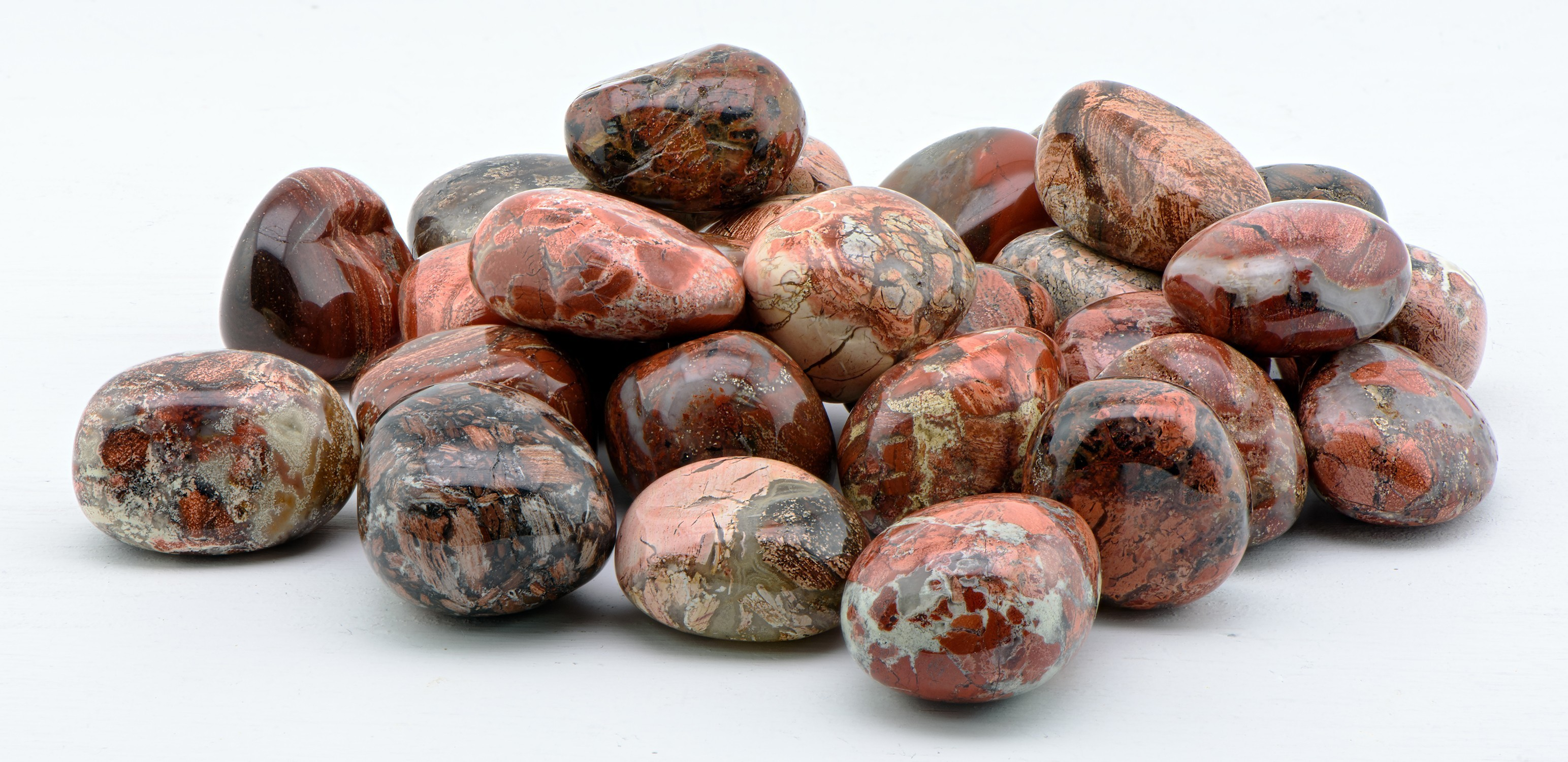 Tumbled Red Silver Leaf Jasper Gemstone - Creepy Hollows Altar Stones -  Stone of Earthen & Ethereal Energies