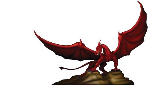 Ancient Worlds Collection© - Celtic Red Dragon Spirit Named Ilman