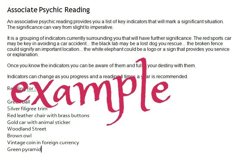 Associative Psychic Reading