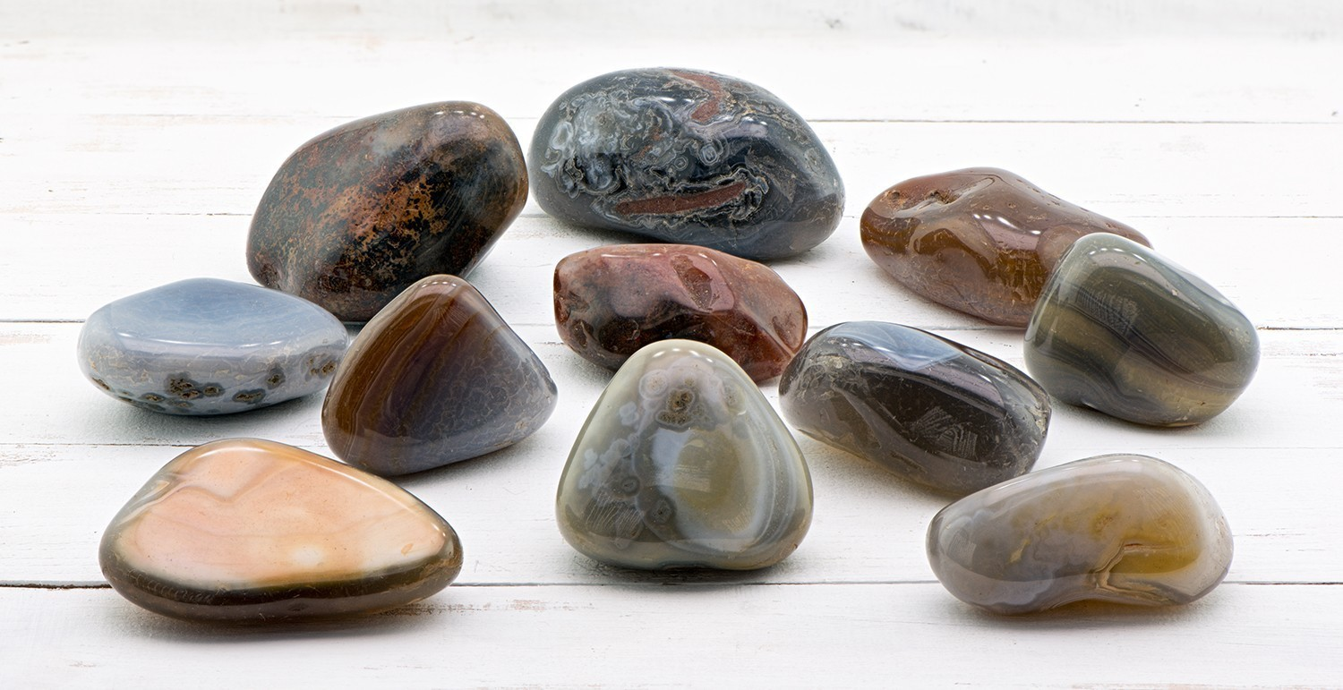 Banded Agate Gemstone - Extra Large :: Creepy Hollows Altar Stones :: Protection & Supernatural Power