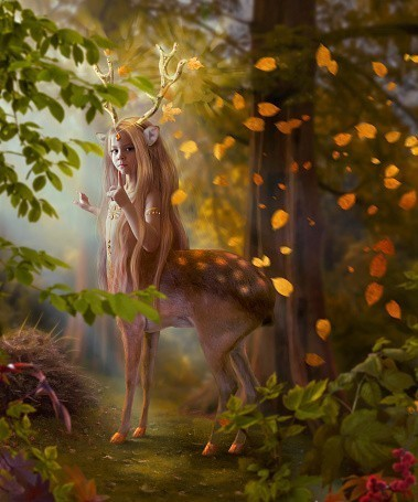 Custom Conjuration Of Deerfolk :: Inhabitants Of The Woodlands Of The World