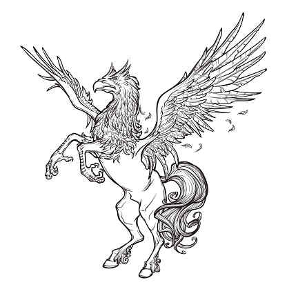 Hippogryph Spirit Named Ankiz - Good Luck, Success, Prosperity, Love, Romance, Beauty