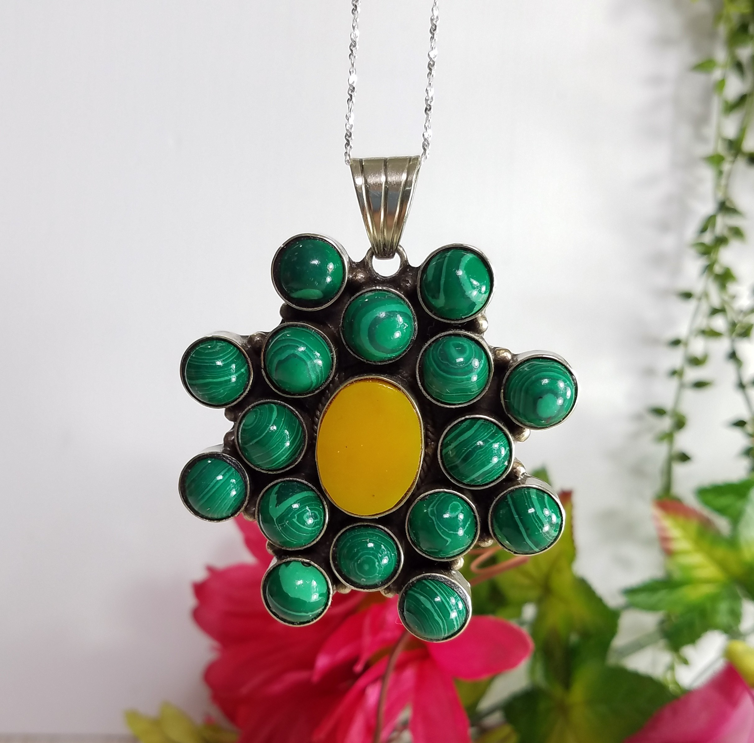 Custom Jewelry - Malachite Gemstone Pendant