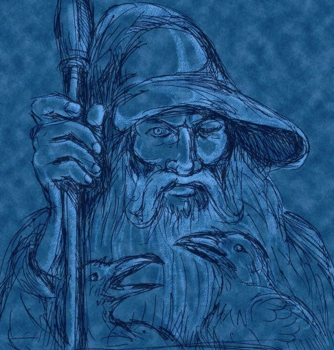 Norse Djinn Spirit Named Funtur - Jotunheimr Realm - Wish-Granter of the Frost
