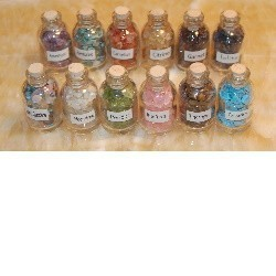 Every Practitioner's Need! Set Of 9 Imbued Gemstone Bottles