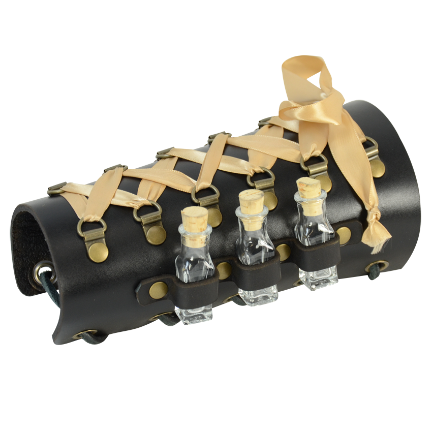 Steampunk Leather Bracer With Vials