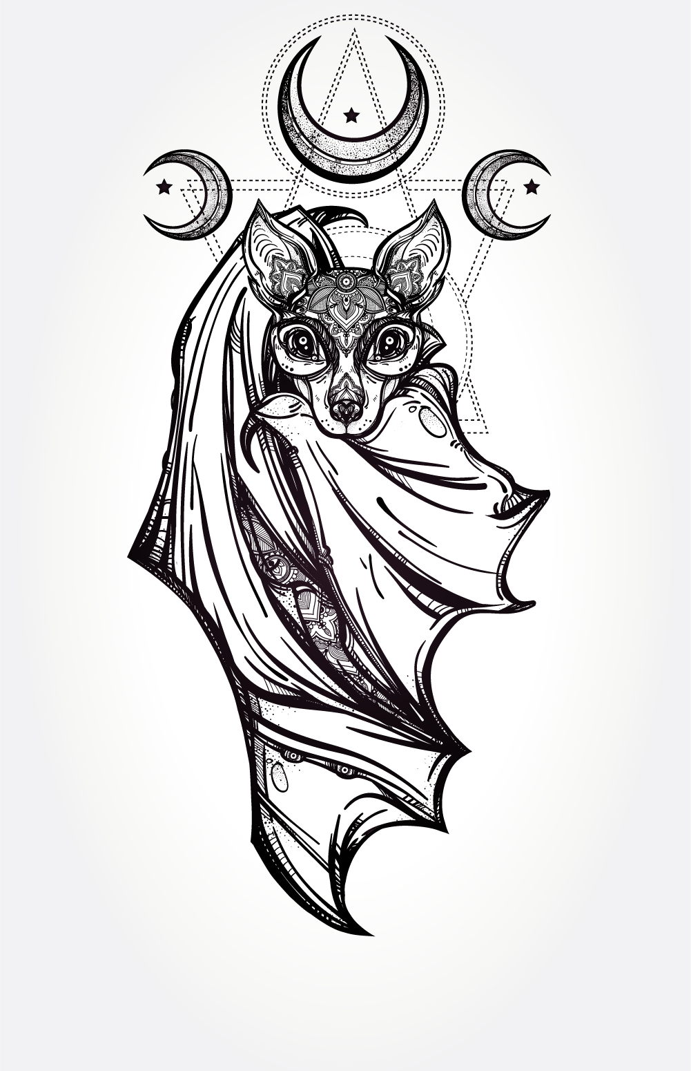 Rare Ancient Bat Vampire Spirit Named Merkim - Raw, Ancient Power Of Incredible Influence