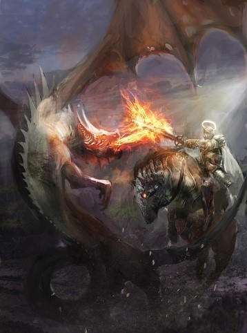 White Dragon Spirit Named Thissel - Companion for Conjurations & Magic
