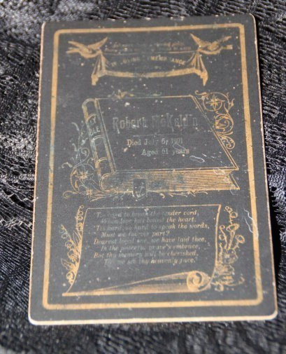 FUNERAL CARD :: DEATH ON JULY 5, 1891 :: PORTAL FOR SPIRITUAL INSIGHT & INTERACTION