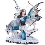 Fairy with Pet Wolf