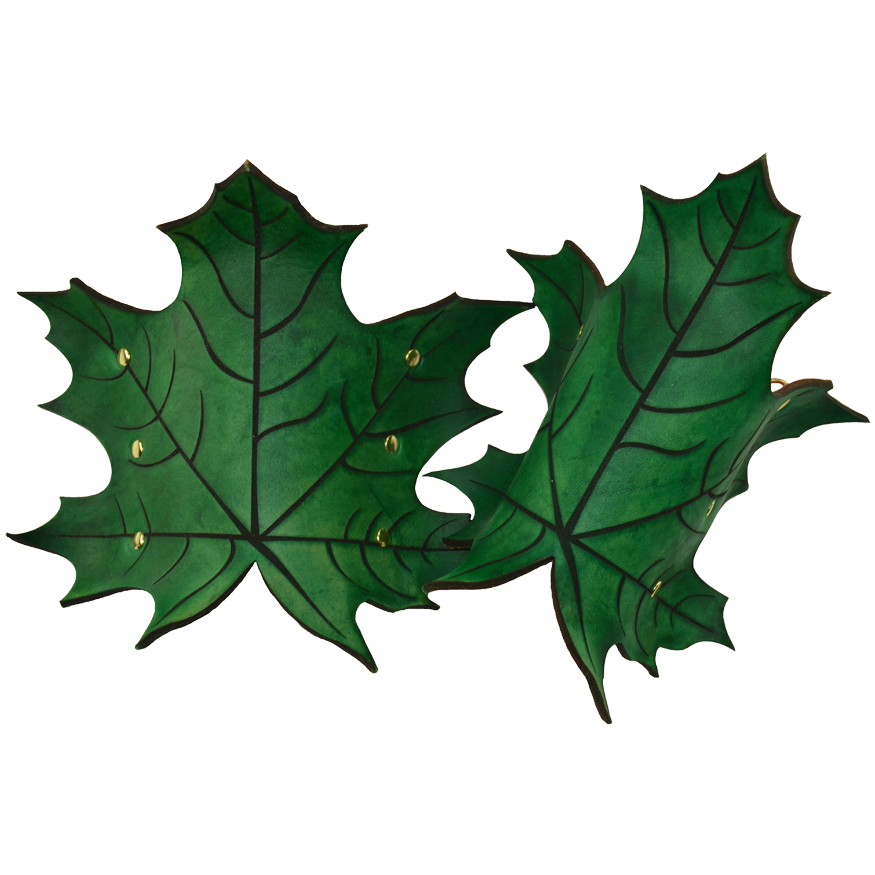 ELVISH LEAF BRACERS :: INSPIRATION IN ARMOR FROM THE FOREST