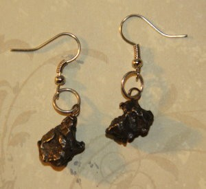 UNIVERSAL BLEND OF POWER ON IRON-NICKEL CAMPOCITO METEORITE STERLING EARRINGS (CLASS 5, TIER 3)