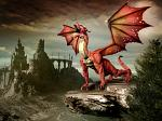 Celtic Red Dragon Spirit Named Carvino - Seeker of Treasure, Good Luck & Opportunities