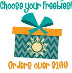Christmas in July Bonus Freebie - With Orders Over $100 (After Discounts) - Choose An Amazing Freebie!