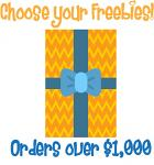 Christmas in July Bonus Freebie - With Orders Over $1,000 (After Discounts) -  Choose An Amazing Freebie!