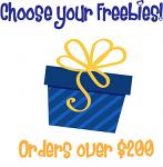 Christmas in July Bonus Freebie - With Orders Over $200 (After Discounts) - Choose An Amazing Freebie!