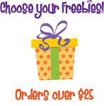 Christmas in July Bonus Freebie - With Orders Over $25 (After Discounts) - Choose An Amazing Freebie!