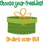 Christmas in July Bonus Freebie - With Orders Over $50 (After Discounts) - Choose an Amazing Freebie