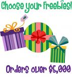 Christmas in July Bonus Freebie - With Orders Over $5,000 (After Discounts) - Choose An Amazing Freebie!