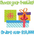 Christmas in July Bonus Freebie - With Orders Over $10,000 (After Discounts) - Choose An Amazing Freebie!