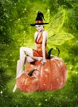Custom Conjuration Harvest Fairy Spirit - Pumpkin - Mystical Guides of Magic