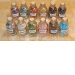 Every Practitioner's Need! Set Of 9 Imbued Gemstone Chip Bottles