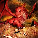 Red Dragon Spirit Named Bysju - Companions Of Prosperity & Wealth