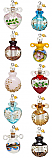 POTION PENDANT :: BEAUTIFUL ARTISAN GLASS POTION BOTTLE PENDANT & 1 DRAM OF POTION