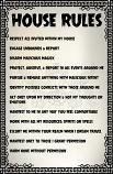 HOUSE RULES POSTER FOR YOUR DARK ARTS SPIRITS & ENTITIES