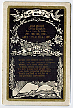 FUNERAL CARD :: DIED JANUARY 25, 1928 :: PORTAL FOR SPIRITUAL INSIGHT & INTERACTION