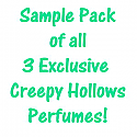 SAMPLE PACK OF 1 DRAM OF EACH EXCLUSIVE CH PERFUME!  TURNED, BREATH OF FIRE, & NYMPHOMANIA
