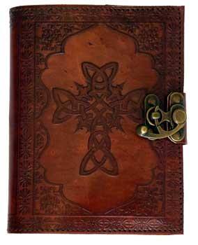 Celtic Cross Leather W/ Latch