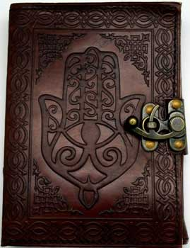 Hamsa Hand Leather W/ Latch