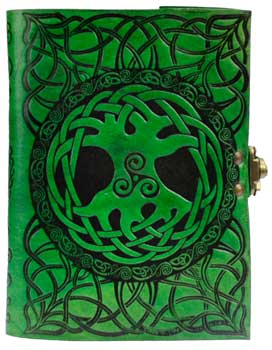 Tree Of Life Leather Green W/ Latch
