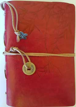 Red I Ching Bamboo Journal