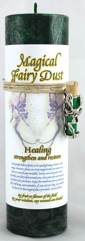 Healing Pillar Candle/ Fairy Dust