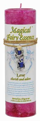 Love Pillar Candle With Fairy Dust