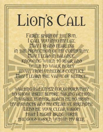 Lion Prayer