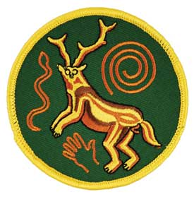 Paleo Shaman Iron-On Patch 3""
